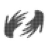Hands Halftone Dotted Icon vector illustration