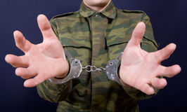 Hands in handcuffs Royalty Free Stock Images