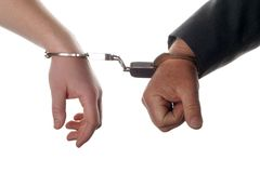 Hands with handcuffs Royalty Free Stock Images