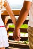 Hands in hands Stock Images