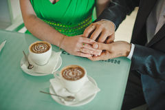 Hands in hands 7. Royalty Free Stock Image