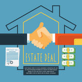 Hands handshake estate deal concept Stock Image