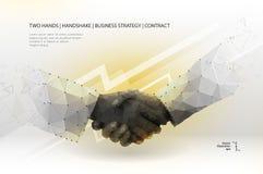 hands handskakning två vektor illustrationer