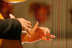 hands harpan Arkivfoto