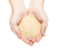 Hands with heap of rice Royalty Free Stock Photos