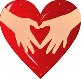 Hands of the heart... Royalty Free Stock Images