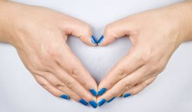 Hands heart Stock Photo