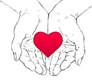 Hands and heart Royalty Free Stock Photography
