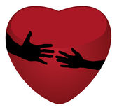 Hands and heart Royalty Free Stock Images