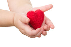 Hands with a heart Stock Image