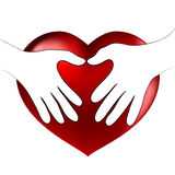 Hands heart hug Royalty Free Stock Images