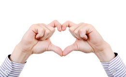Hands in Heart shape Royalty Free Stock Photo