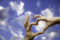 Hands with heart shape Royalty Free Stock Photography