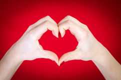 Hands heart shape concept Royalty Free Stock Image