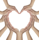 Hands in heart shape Royalty Free Stock Image
