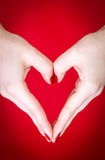 Hands heart shape Stock Image