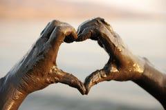 hands heart shape spa στοκ φωτογραφία με δικαίωμα ελεύθερης χρήσης