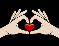 Hands heart sign Royalty Free Stock Photo