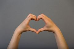 Hands heart symbol Stock Photography