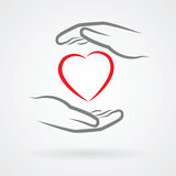 Hands with heart symbol Stock Photo