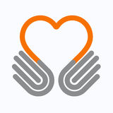 Hands heart  symbol,  Stock Photo