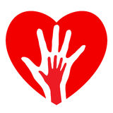 Hands and heart Stock Photos