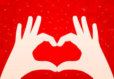 Hands heart vector background Stock Photo