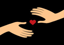 Hands with heart vector Royalty Free Stock Photo