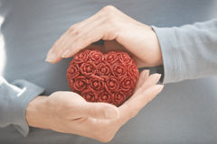 Hands with heart Royalty Free Stock Images