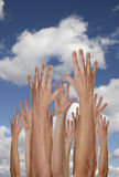 Hands in the Heavens Royalty Free Stock Photos