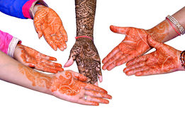 Hands With Heena Design Royalty Free Stock Photos