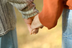 Hands held together Royalty Free Stock Images