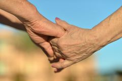 Hands held together Royalty Free Stock Image