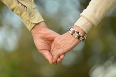 Hands held together Royalty Free Stock Photo