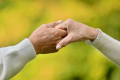 Hands held together Stock Image