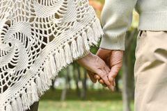 Hands held together Stock Images