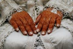hands henna Fotografering för Bildbyråer