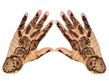 Hands Henna Design Stock Image