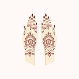 Hands with Henna Mehendi Patterns. Vector illustration Traditional Arts. Hands with Henna Mehendi Patterns. Vector illustration Traditional Clip Arts Royalty Free Stock Photography