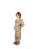 Hands on hips suit boy Stock Photography