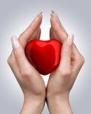 hands hjärta Arkivfoto