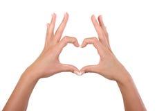hands hjärta Royaltyfri Foto