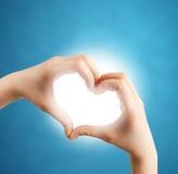 hands hjärtaform Royaltyfria Foton