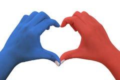 hands hjärtaform Arkivbild