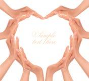 hands hjärtaframställning stock illustrationer