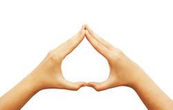 hands hjärta som gör form Arkivbilder