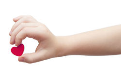 Hands hold a red heart Royalty Free Stock Photography