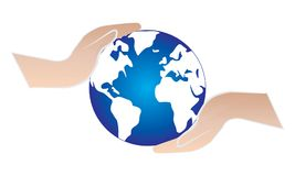 Hands Hold World - Hands Holding and Supporting Globe Map World. Illustration of world map globe Hands Hold World - Hands Holding and Supporting Globe Map World royalty free illustration