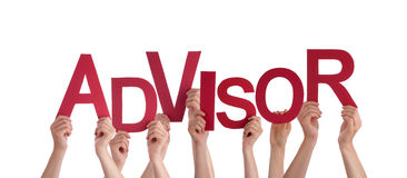 Hands Holding Advisor Royalty Free Stock Images