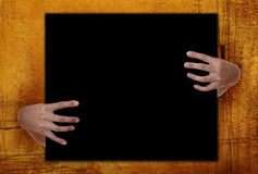 Hands Holding Blank Copy Space Royalty Free Stock Photography